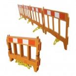 Valla alcantarillado 4 puertas de plástico naranja