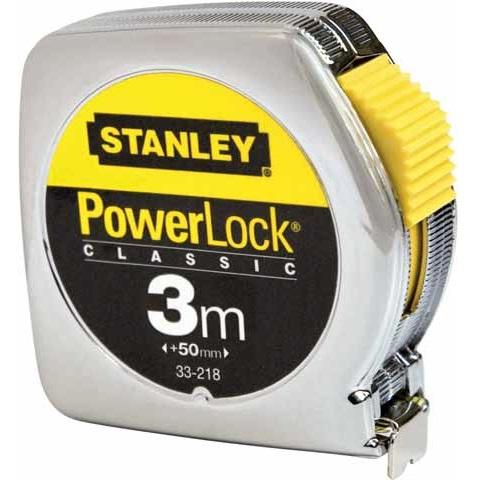 Flexómetro PowerLock Classic Caja Metálica 3m x 12'7mm Stanley