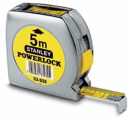 Flexómetro lectura directa Powerlock  5m x 19mm Stanley