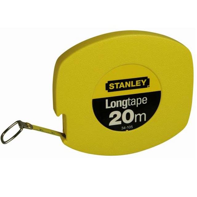 Cinta larga acero estándar cerrada Stanley de 20 metros x 9,5mm