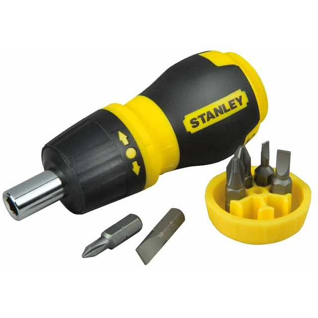Multipuntas extracorto con carraca + 6 puntas Stanley