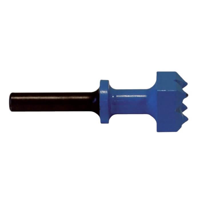 Bujarda con retenedor de 30x30 mm. 9 dientes