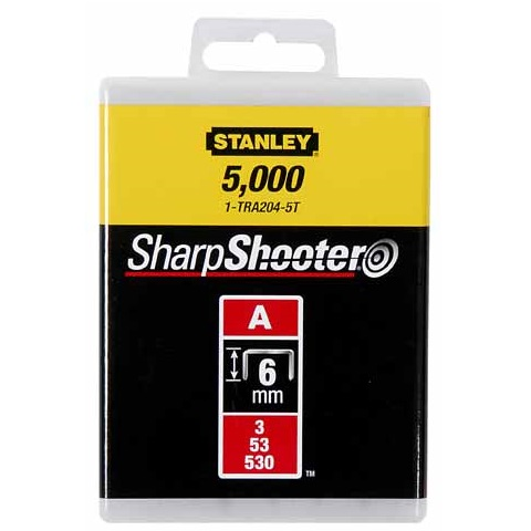 Grapa tipo A (5/53/530) de 10mm Stanley - 5000 unidades
