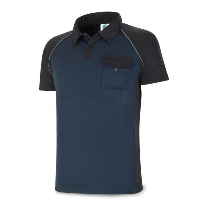 Polo manga corta PRO Series azul marino/negro 1288-POLAN