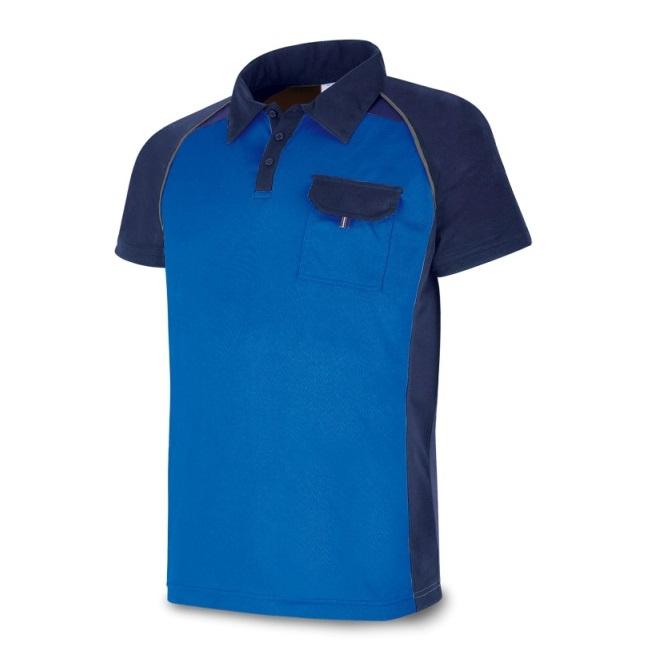 Polo manga corta PRO Series azul marino/azulina 1288-POLAZA
