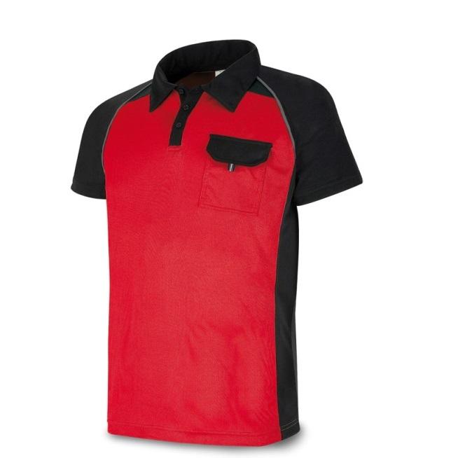 Polo manga corta PRO Series rojo/negro 1288-POLRN