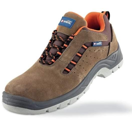 Anibal LUSITANIA 1688-ZSRM PRO - Zapato seguridad serraje marrón S1P