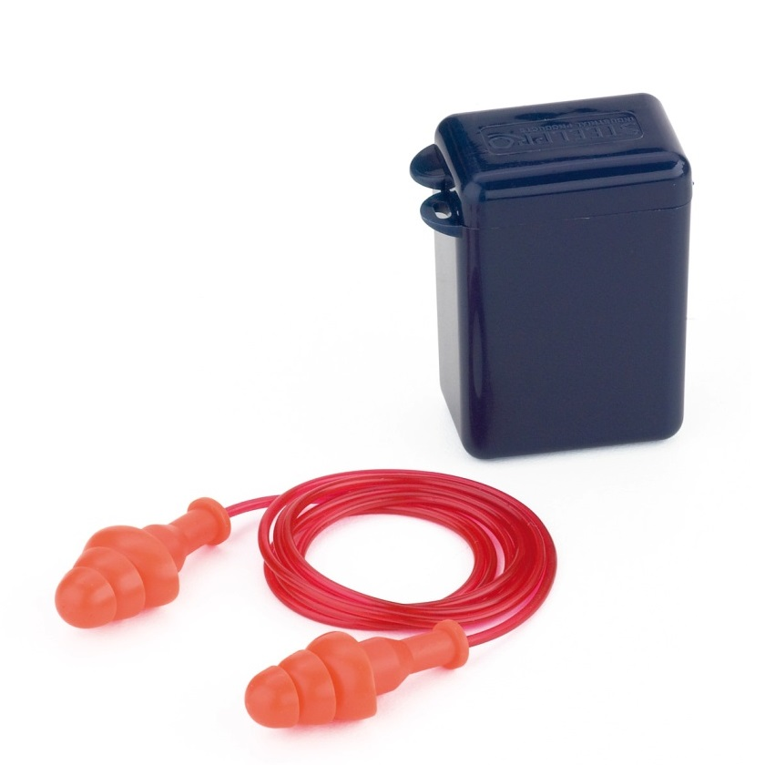 Tapón auditivo reutilizable con cordón FIT BASIC Ref. 1988-TRCE (Caja de 100 pares) - Referencia 1988-TRCE