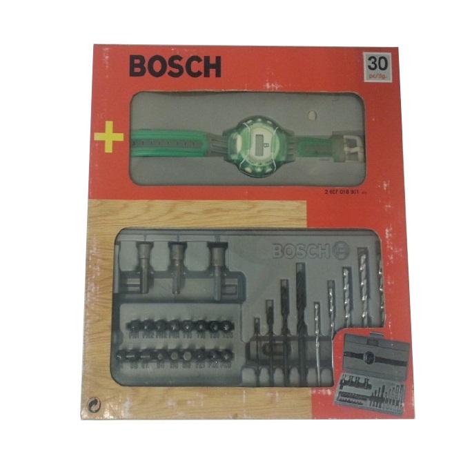 Set 30 piezas Bosch para taladrar/atornillar + Regalo reloj