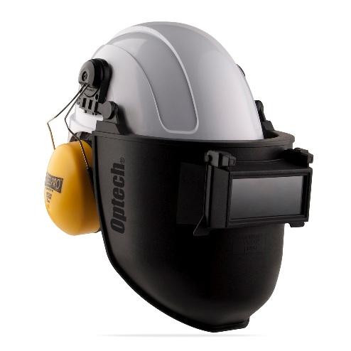 Pantalla de soldar tono 11 OPTECH adaptable a casco 2188-PSC