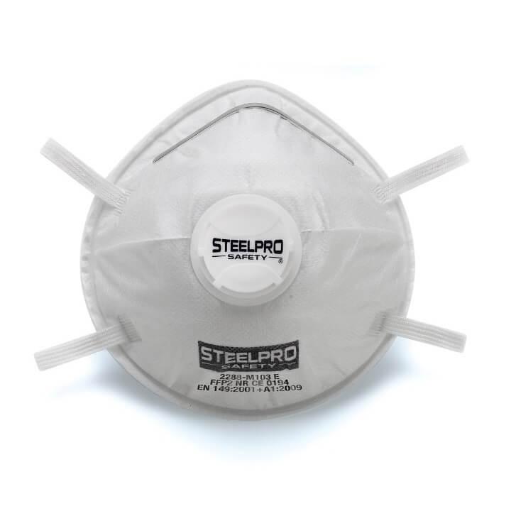 Mascarilla desechable FFP2 contra polvos baja toxicidad con Válvula 2288-M103E