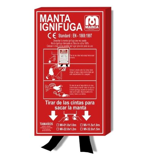 Manta ignífuga apagafuegos de 100x100cm Ref.2388-M (S) - Referencia 2388-M (S)