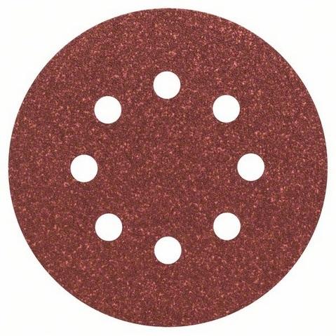 Hoja de lija Bosch de 125mm C430 - Grano 80 (Caja 5 unidades) - Referencia 2608605642