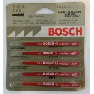 Hoja de sierra de calar Bosch HSS T 18 A (Caja 5 unidades)