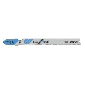 Hoja de sierra de calar Bosch HSS T 118 A (Caja 5 unidades)