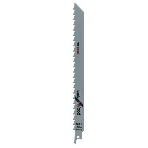 Hoja de sierra sable Bosch S 1111 K - 225x19x1'25mm 3tpi (Caja 2 unidades)
