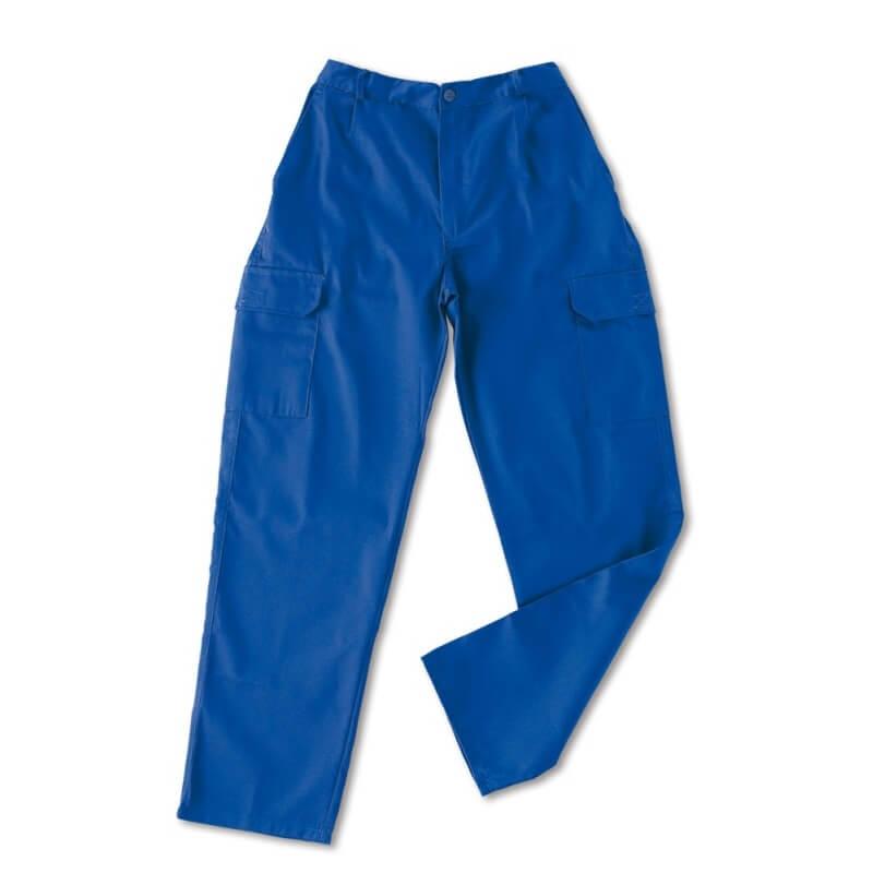 Pantalón multibolsillos tergal de 200g azulina 388-P