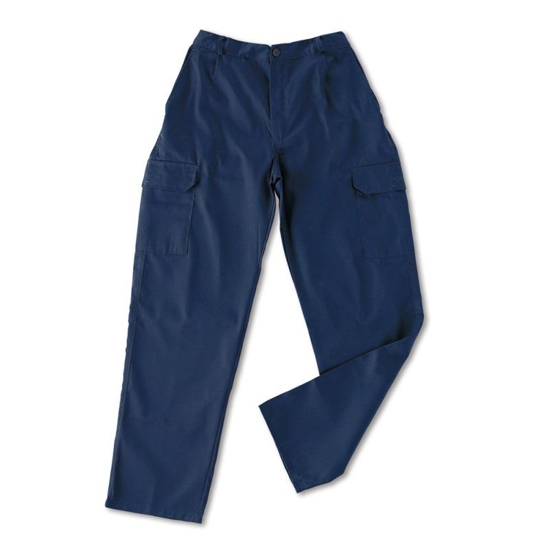 Pantalón multibolsillos tergal de 200g azul marino 388-PAM