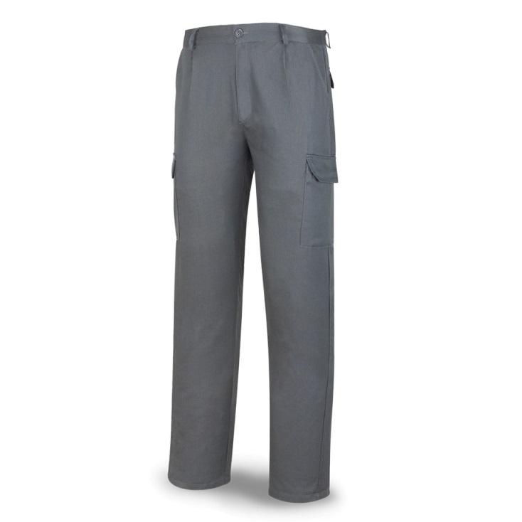 Pantalón multibolsillos tergal de 200g gris 388-PG