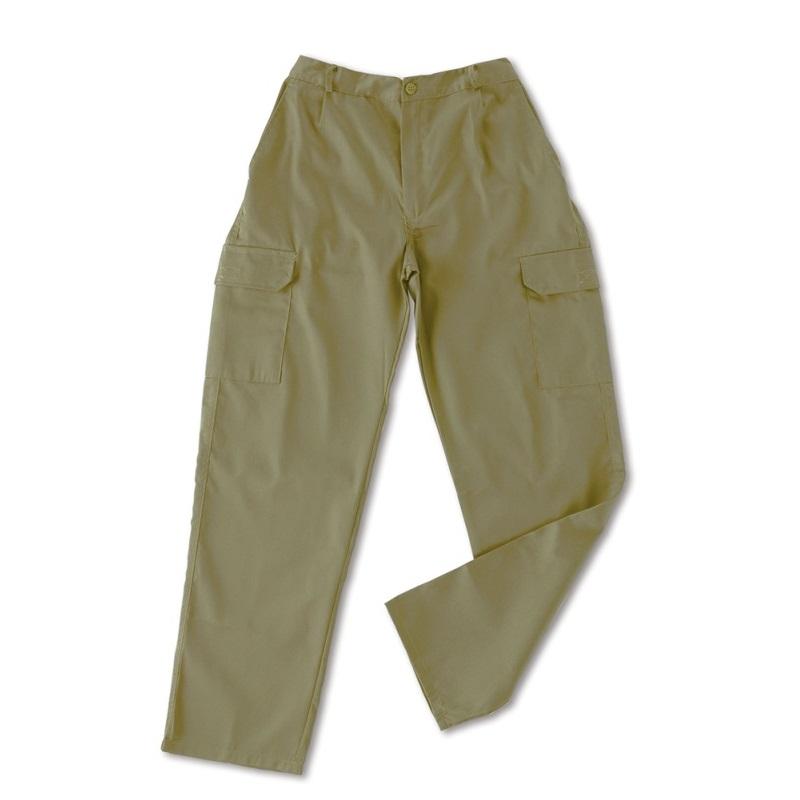 Pantalón multibolsillos tergal de 200g beige 388-PM