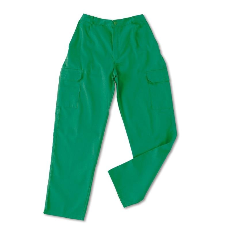 Pantalón multibolsillos tergal de 200g verde 388-PV