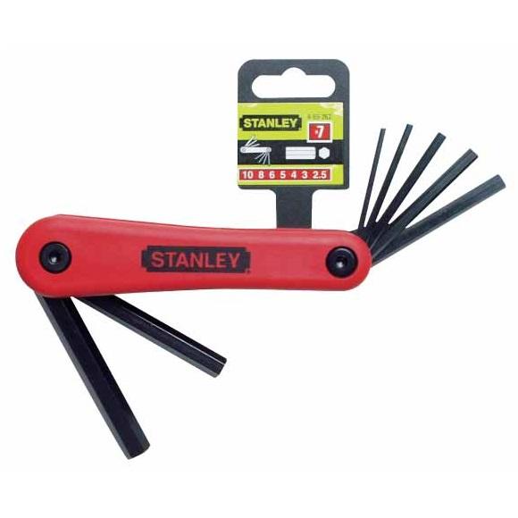 Juego 7 llaves hexagonales Stanley - 1,5 a 6 mm