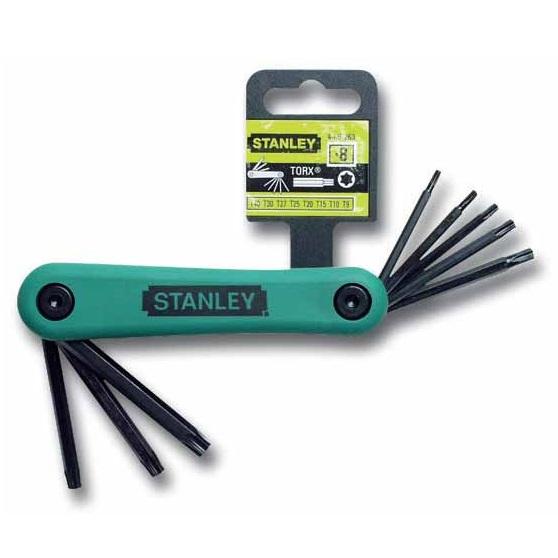 Juego 8 llaves hexagonales Torx Stanley - T9 a T40