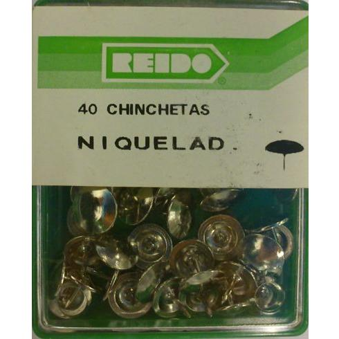 Kit 40 Chinchetas Niqueladas