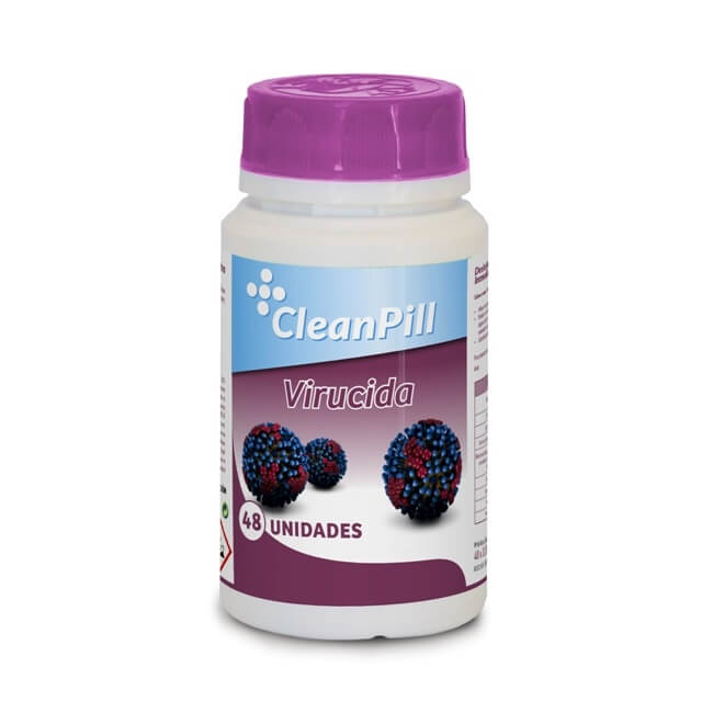 Pastillas desinfectantes virucidas CleanPill (Bote 48 pastillas)