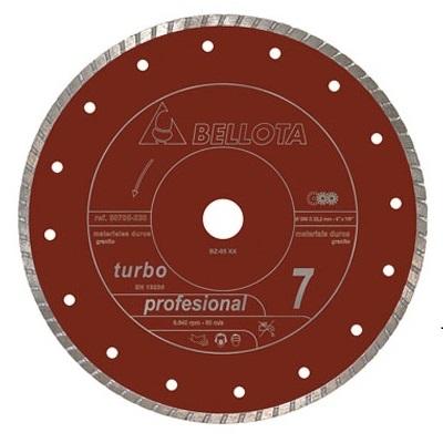 Disco diamante Bellota Materiales Duros Turbo 115Ø Ref.50705-115