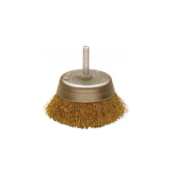 Cepillo Taza Acero Latonado Alambre Ondulado Bellota Ref.50808-50
