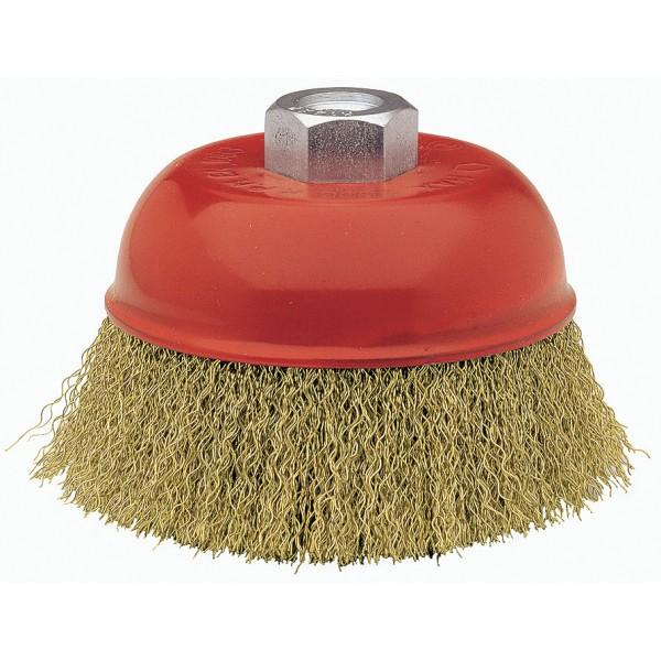 Cepillo Taza Acero Latonado Alambre Ondulado Bellota Ref.50812-125 - Referencia 50812-125