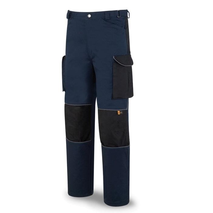 Pantalón tergal de 245g azul marino/negro 588-PAN