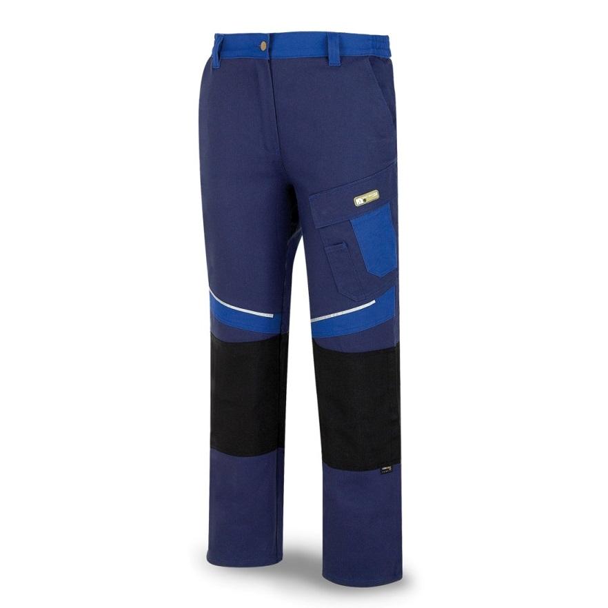Pantalón tergal canvas PRO Series de 245gr azul marino/azulina 588-PAZA