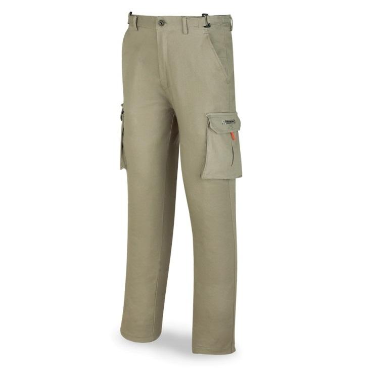 Pantalón elástico algodón y elastano caqui 588-PELASTK