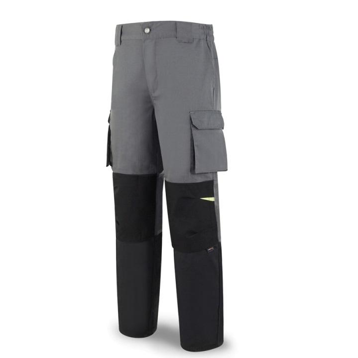 Pantalón tergal de 245gr gris/negro 588-PGN
