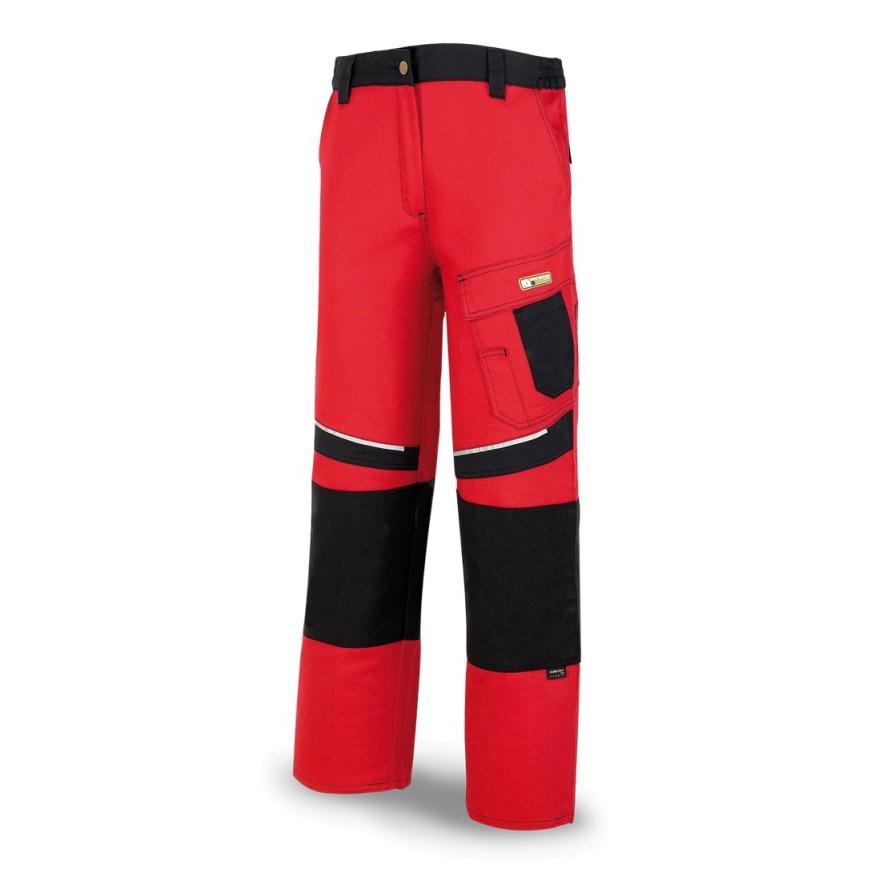 Pantalón tergal canvas PRO Series de 245gr rojo/negro 588-PRN - Referencia 588-PRN