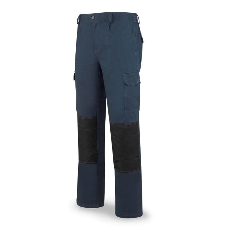 Pantalón StretchPro multibolsillo con refuerzo en rodillas azul 588-PSTA