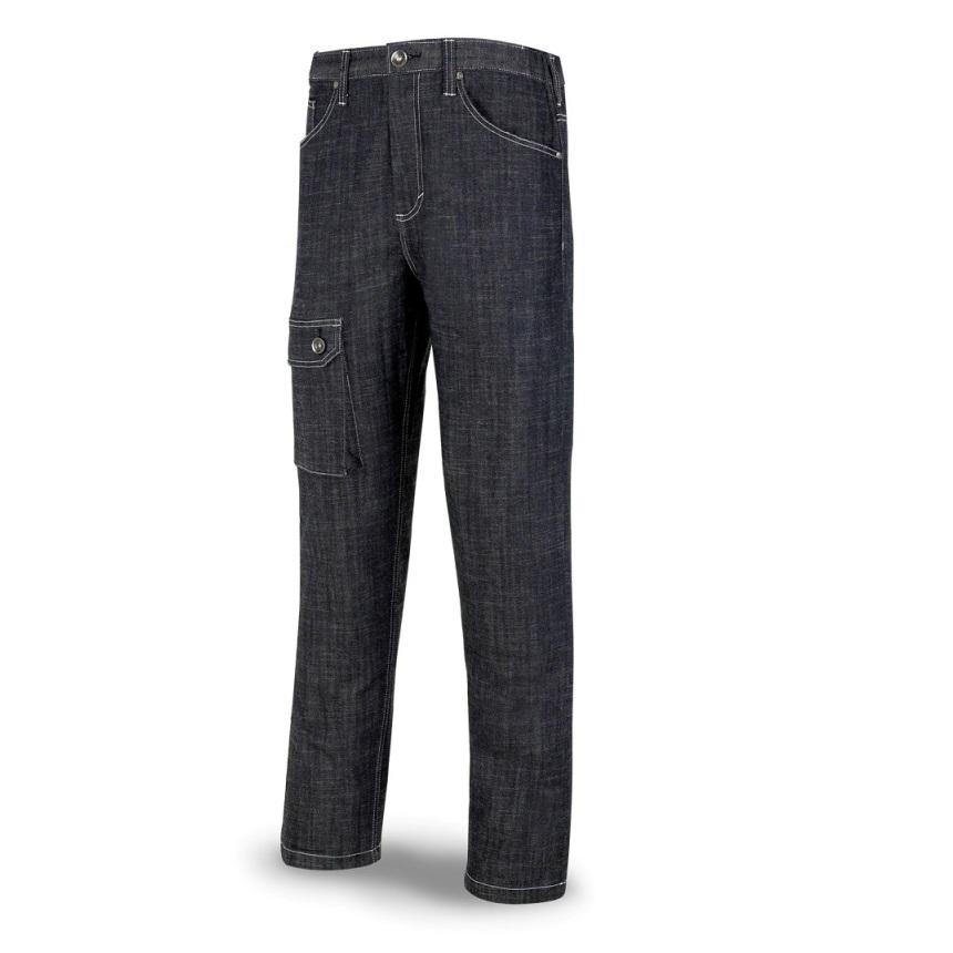 Pantalón tejido vaquero Stretch azul marino 588-PV