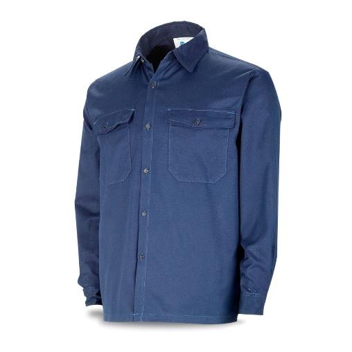 Camisa ingnífuga y antiestática azul marino inherente 988-CAIAM