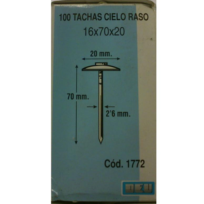 Puntas Encañizar  16x70x20 mm.  (100 unidades)