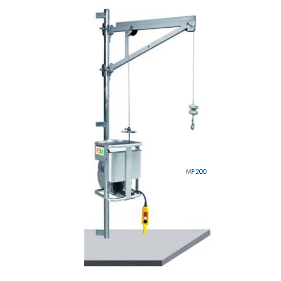 Elevador montaje andamios MP-200-MF con cabrestante inferior
