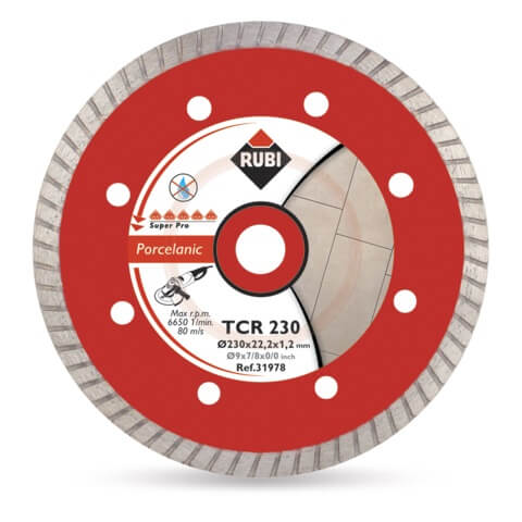 Disco Diamante Rubi Gres Porcelánico Turbo TCR 115 SUPERPRO