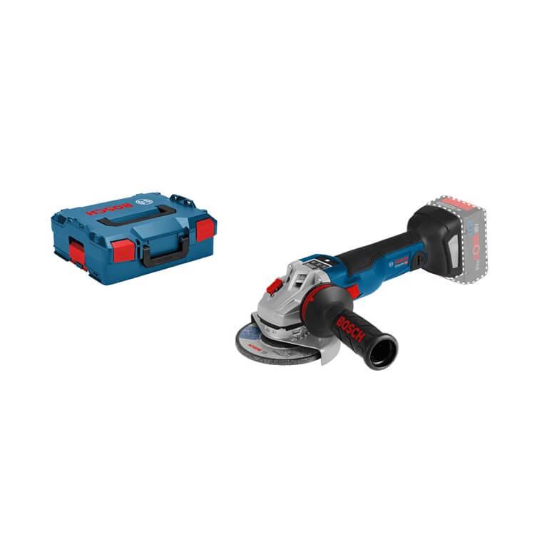 Miniamoladora a batería Bosch GWS 18V-115 SC Professional en L-BOXX