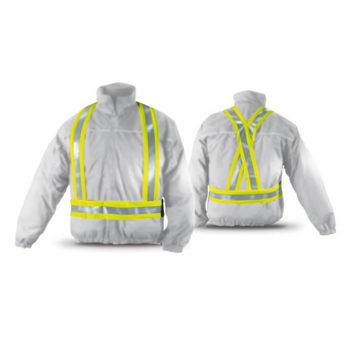 Arnés amarillo fluorescente con bandas retrorreflectantes - Referencia 288-AHV