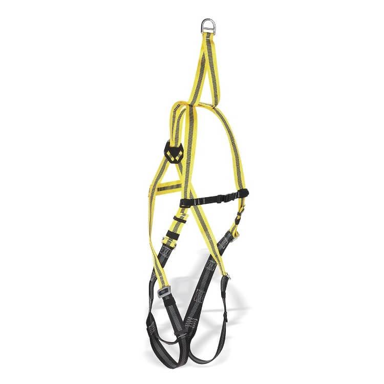 Arnés con enganche dorsal y cinta de rescate STEELRESC