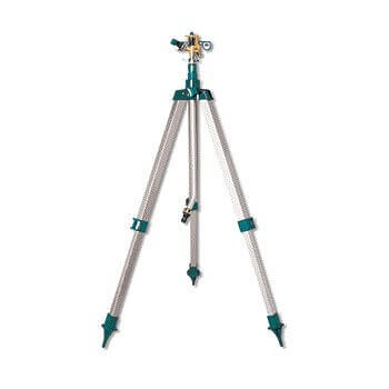 Aspersor sectorial de impulsos metálico con trípode