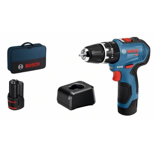 Bosch GSR 12V-30 con 2 baterías 2Ah - Taladro atornillador a batería - Referencia 06019G9004