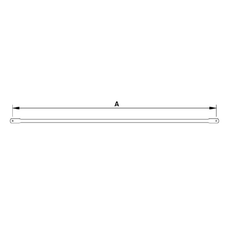 Barra horizontal FER-48 galvanizada de 2,5m