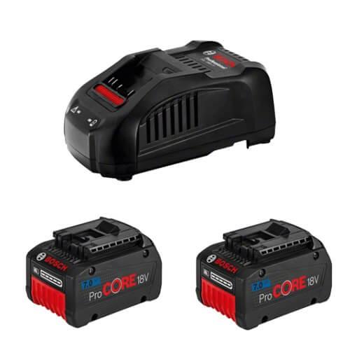 Juego 2 baterías Bosch ProCORE18V 7Ah + cargador GAL 1880 CV